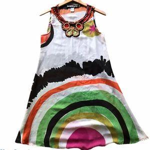 DESIGUAL Art to Wear Sheer Tunic Mini Dress